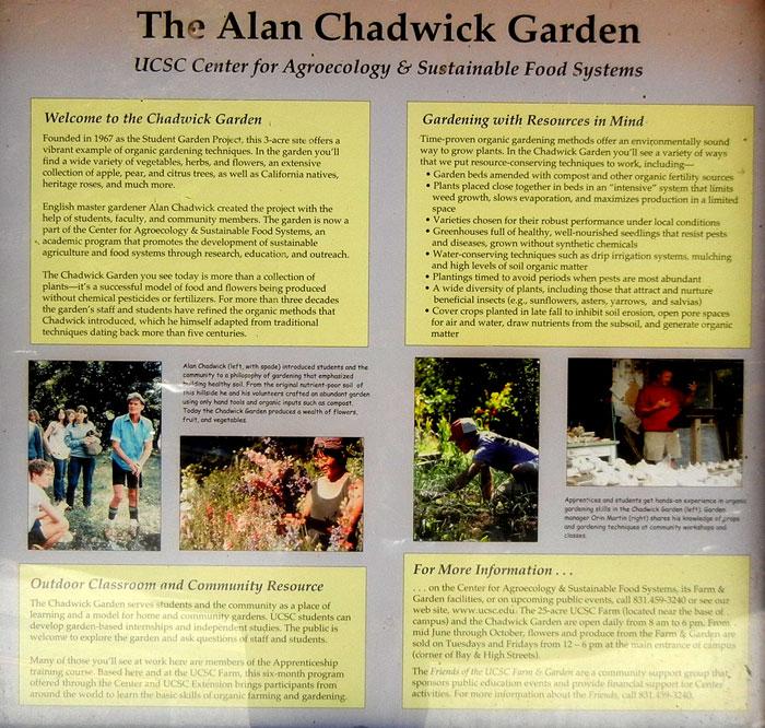 Delightful Alan Chadwick Garden Information Board